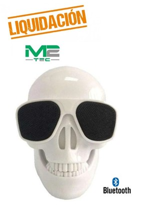 M2TV5709BL  ALTAVOZ  BLUETOOTH M2 TEC MINI CALAVERA BLANCA