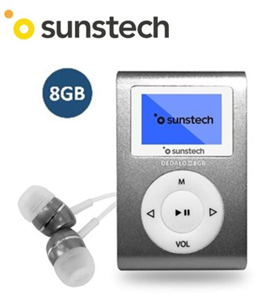 SUNDEDALOIII8GR  REPRODUCTOR MP3 SUNSTECH 8Gb GRIS