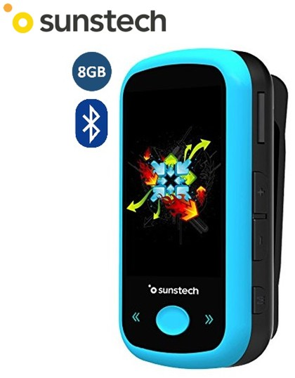 SUNIBIZABT8GBAZ  REPRODUCTOR MP4 SUNSTECH 8Gb BLUETOOTH AZUL