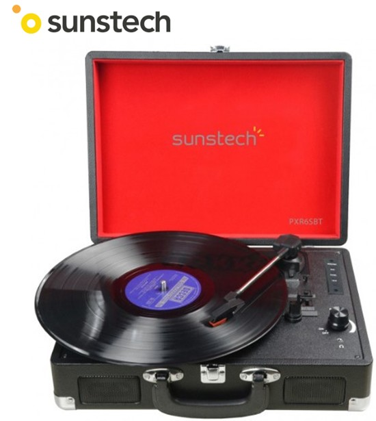 SUNPXR6  TOCADISCOS SUNSTECH BLUETOOTH MP3