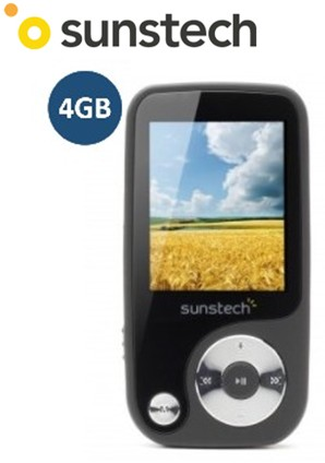 SUNTHORN4NG  REPRODUCTOR MP4 SUNSTECH 4Gb NEGRO